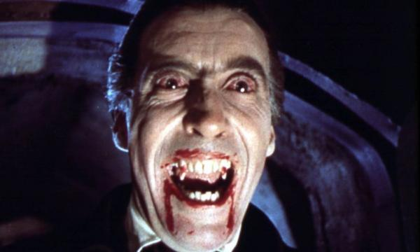 "Christopher Lee in ""Horror of Dracula"" (1958) begins at 7:30pm"