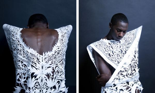 Antonius-Tín Bui, Untitled, Donrose paper fashion, color photograph, 2016