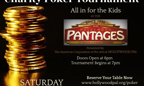 """Poster graphic for """"Poker at the Pantages"""""""