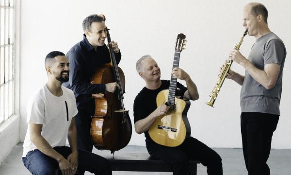 4 men playing instruments