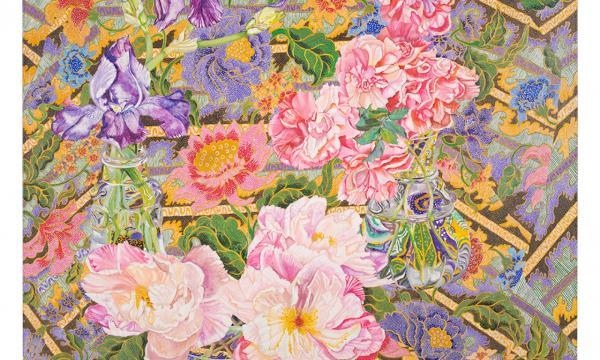 Image credit: Sandra Sallin, Melasti, 1981, oil on canvas, 42 × 36 in. (106.68 × 91.44 cm). Courtesy of the artist. Photo by Zak Kelley.