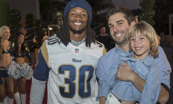 Todd Gurley II and guests enjoying Taste of the Rams 2017.