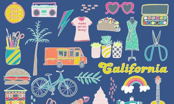 Dear Handmade Life Presents: Patchwork Show Modern Makers Festival 150+ Art & Craft Vendors, Food, Crafting, Music. Santa Ana, Long Beach, Ventura, Oakland, Santa Rosa