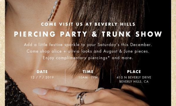 August & June // alice + olivia Piercing Party