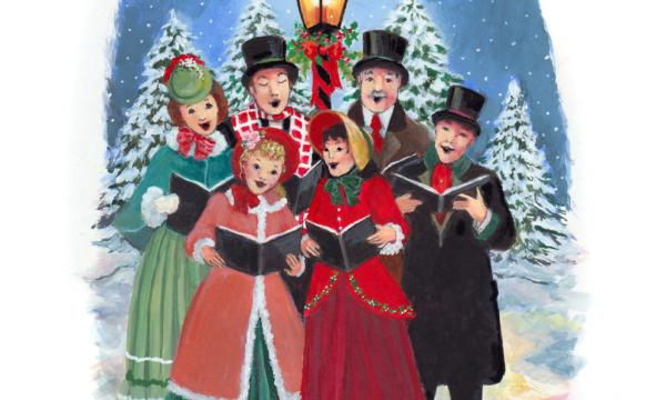 A group of Christmas Carolers