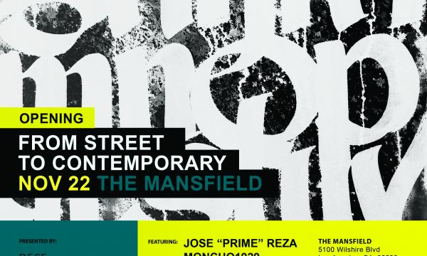From Street to Contemporary opens at the Mansfield November 22nd, 2019