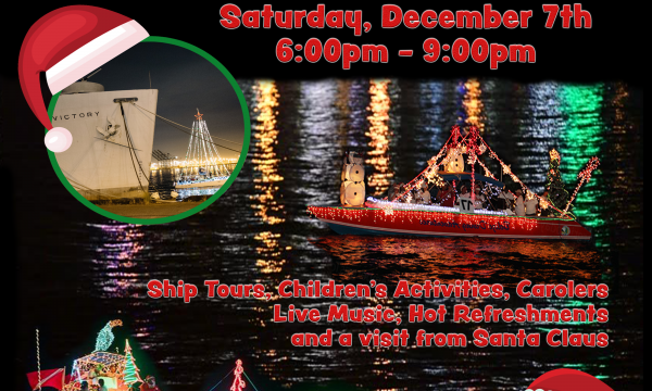 2019 San Pedro Holiday Boat Parade Viewing Aboard the S.S. Lane Victory
