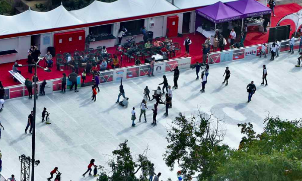 Main image for event titled The Bai Holiday Ice Rink Pershing Square (LAST DAY)