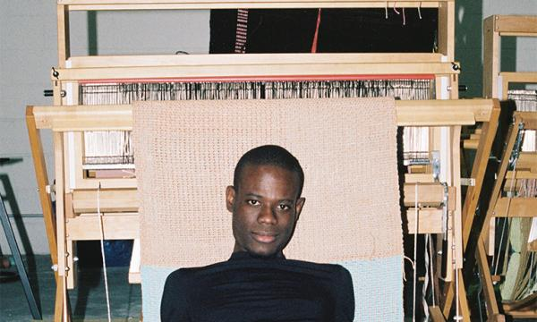 Image of Diedrick Brackens. Photo by Clifford Prince King. Courtesy the Artist and Various Small Fires, Los Angeles/Seoul.