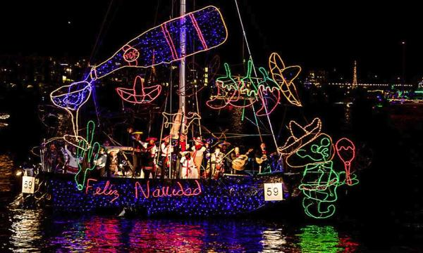 Main image for event titled Marina del Rey Holiday Boat Parade