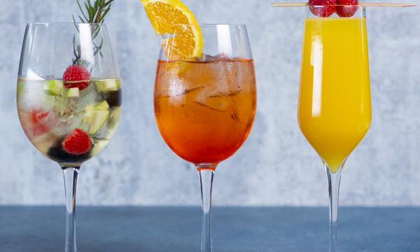 Cleo's Bottomless White Sangria, Bellini, and Mimosa