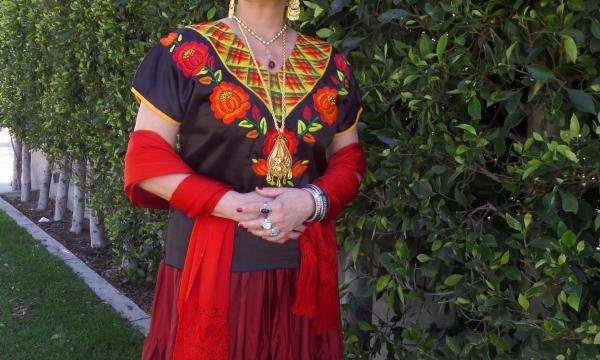 "Odalys Nanin in ""Frida- Stroke of Passion."" Photo courtesy of Macha Theatre/ Films."