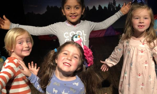 Kids 4 to 6 express themselves on stage at Santa Monica Playhouse