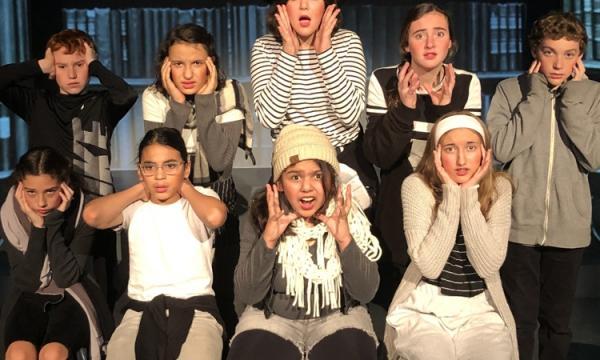 Teens help create an original musical play