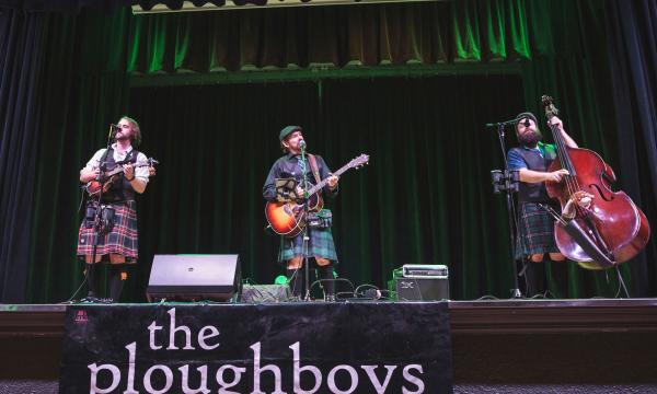 Ploughboys on stage