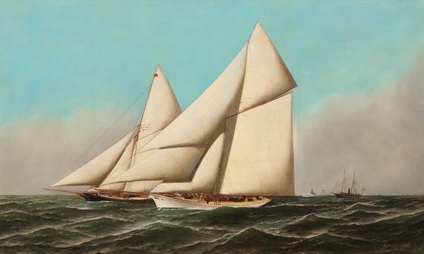 """""""America's Cup"""" Painting Up for Auction by Antonio Jacobsen"""