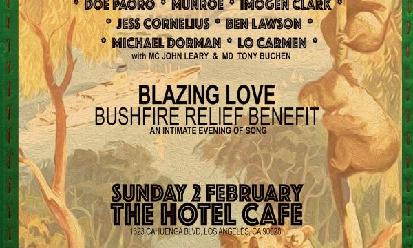 Blazing Love Bushfire Relief Benefit Poster