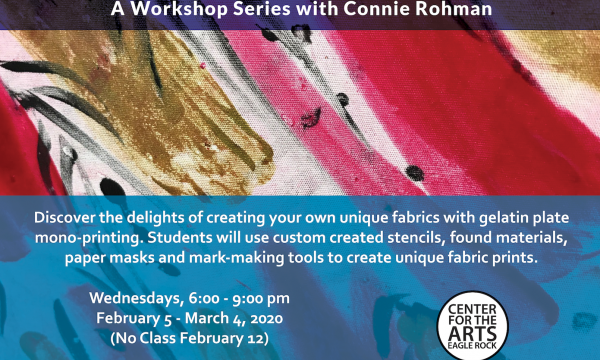 Textile Arts: Gelatin Plate Printing with Connie Rohman