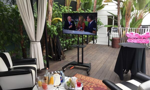 Super Bowl viewing party at Hotel Shangri-La