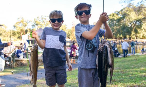 Kids' Free Fishing Derby at Irvine Regional Park