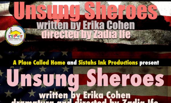 "New poster graphic for ""Unsung Sheroes"""