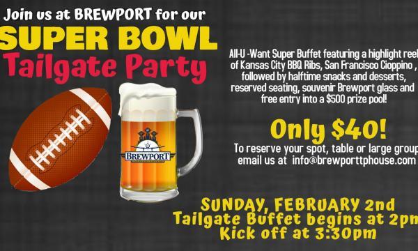 artwork for Brewport Super Bowl party