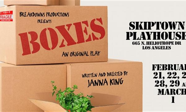 """Main image for event titled """"Boxes"""" - an original play (OPENING NIGHT)"""