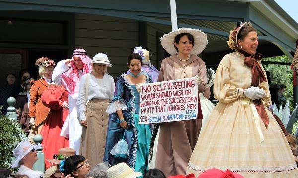 Narrators will weave fascinating historic stories as models don authentic period costumes and vintage gowns on the museum's picturesque outdoor runway surrounded by beautifully restored Victorian homes.