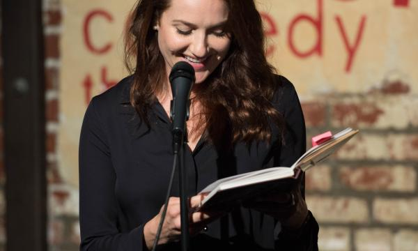 Meghan reads her teen diary at Improv Diary Show
