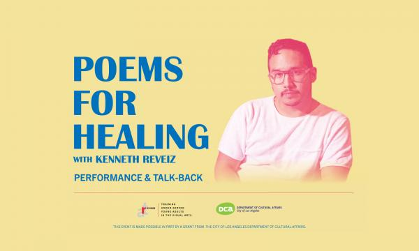 Poetry for healing with Kenneth Reveiz, Performance and Talk back, Friday February 21st 2020