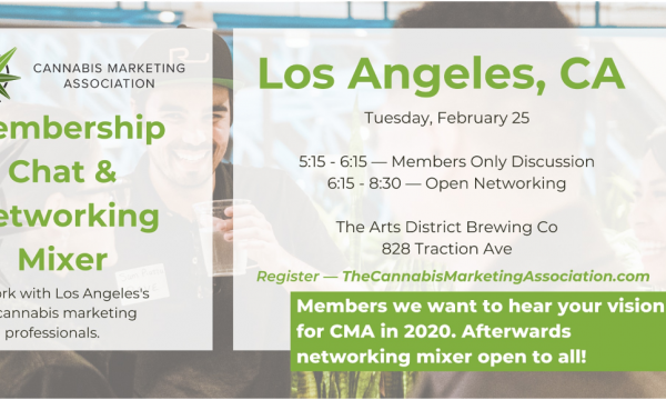 Cannabis Marketing Association Membership Chat & Networking Mixer (FREE)