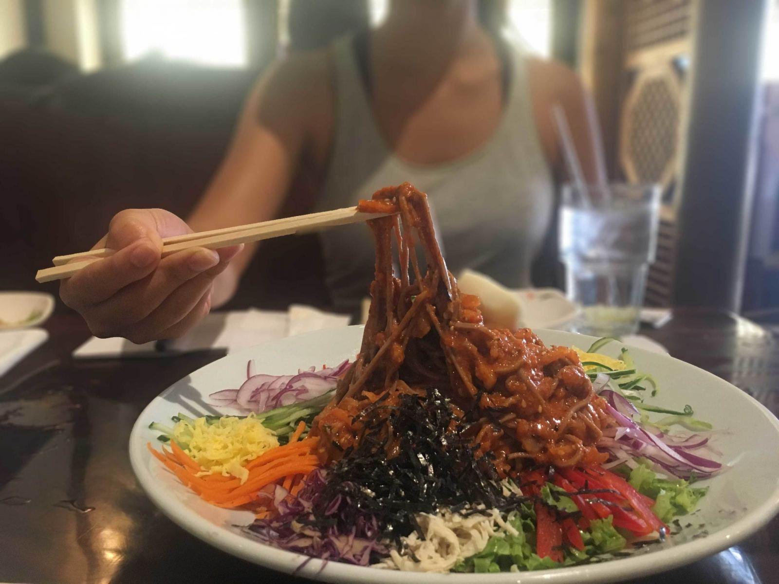Avital-Ungar.-Koreatown-Food-Tour.-Kobawoo-House-Acorn-Noodles-Blurred