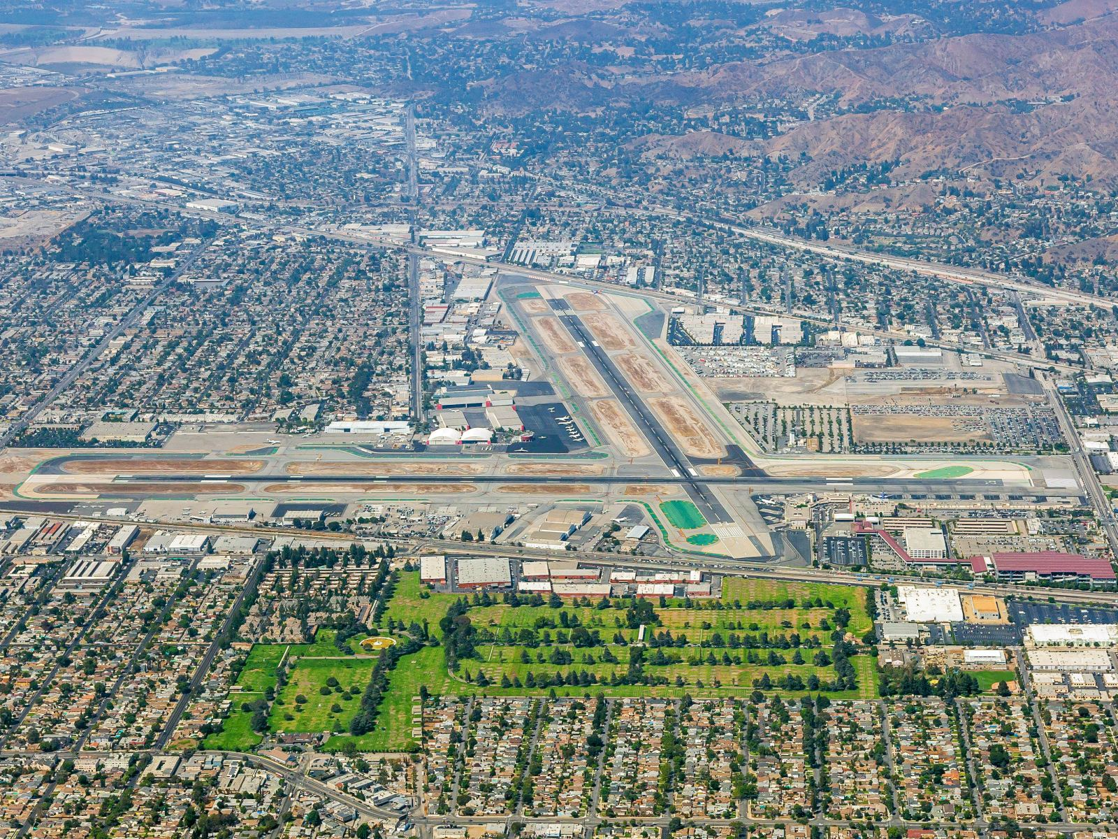 Hollywood Burbank Airport Aerial View