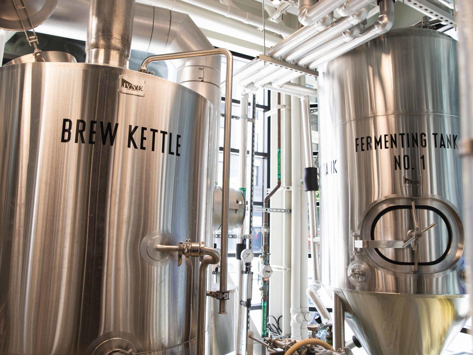 Fresh Beer Brewing Here