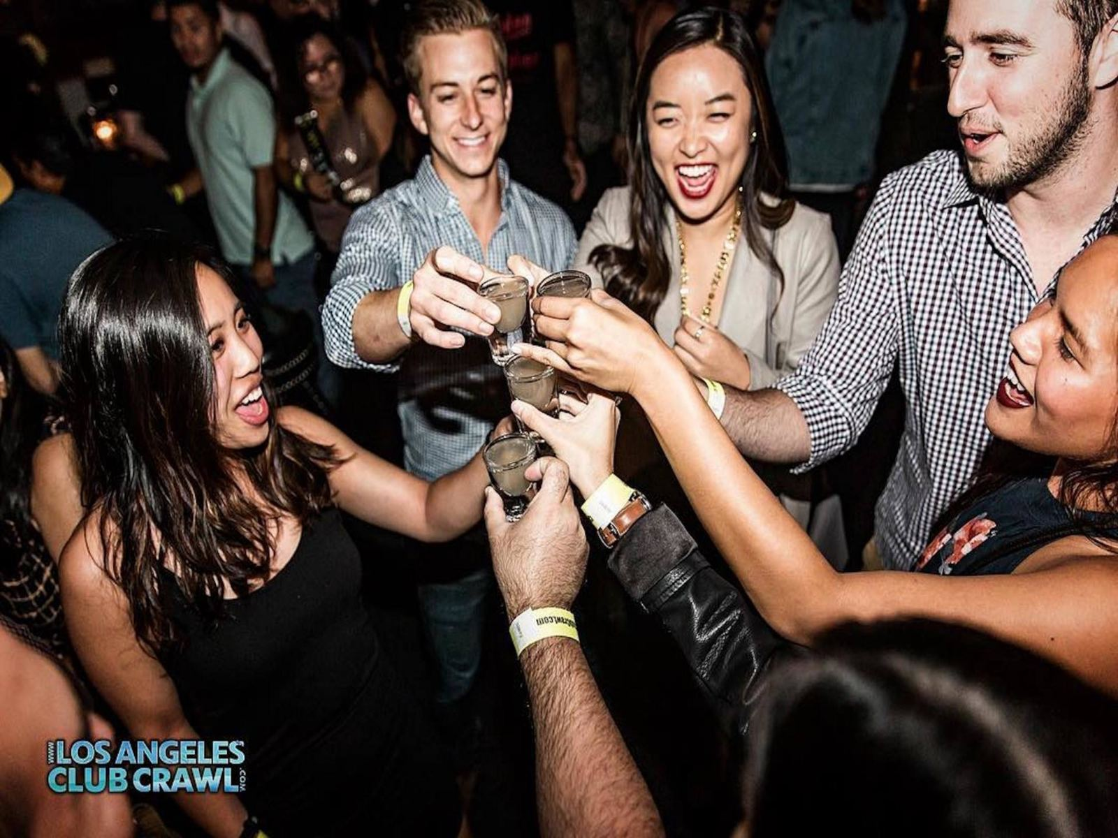 Los Angeles Club Crawl drinks