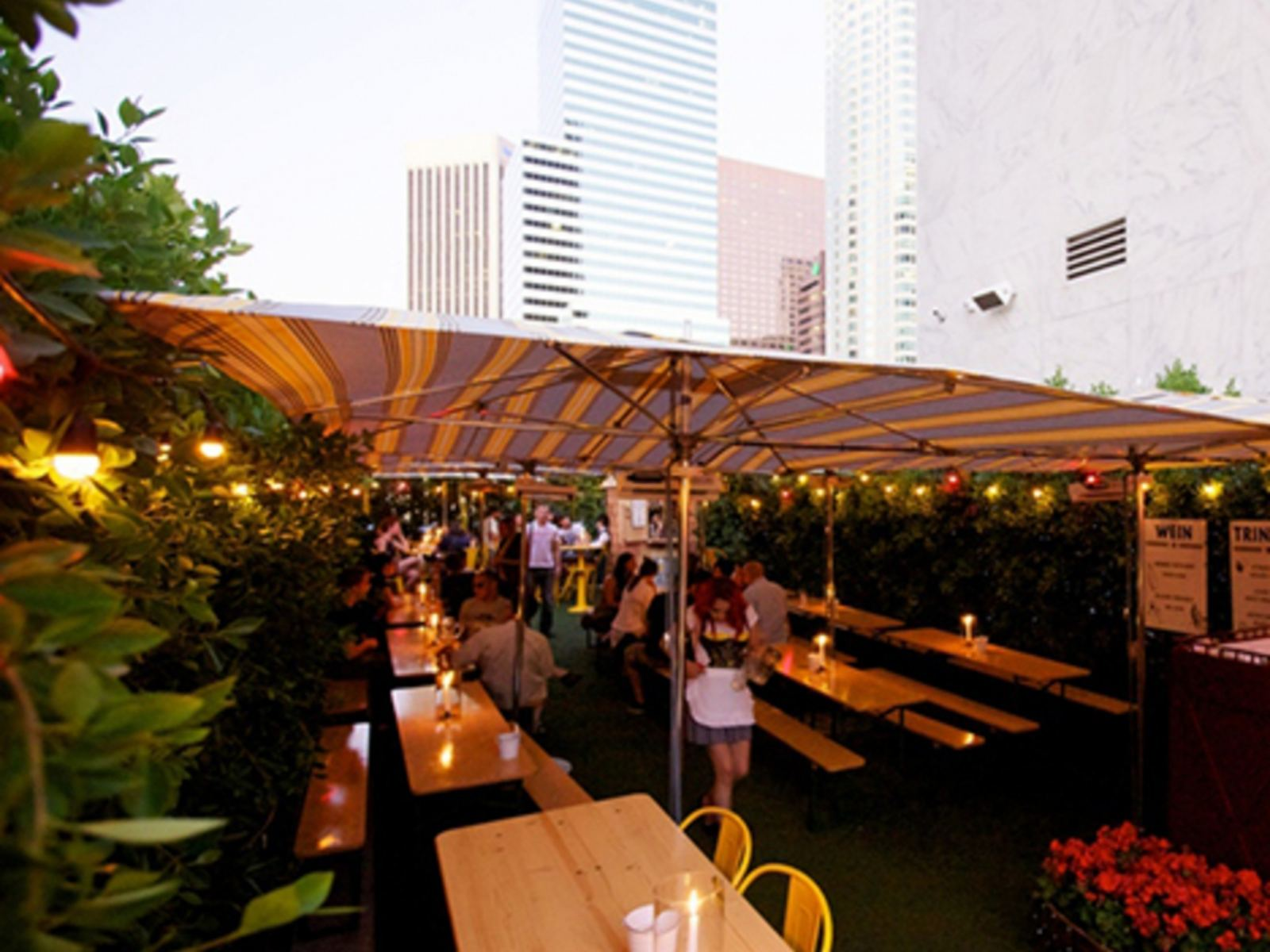 The Biergarten at The Standard Downtown LA Overview