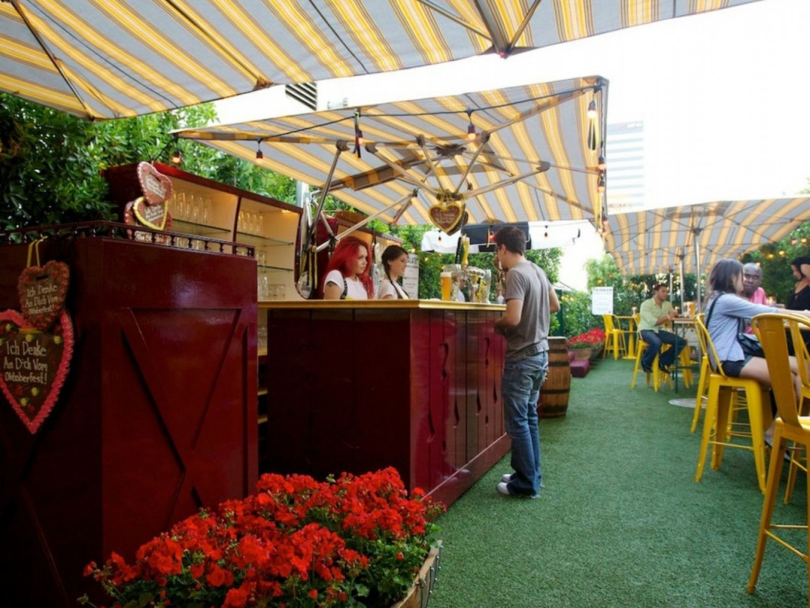 The Biergarten at The Standard Downtown LA Set up