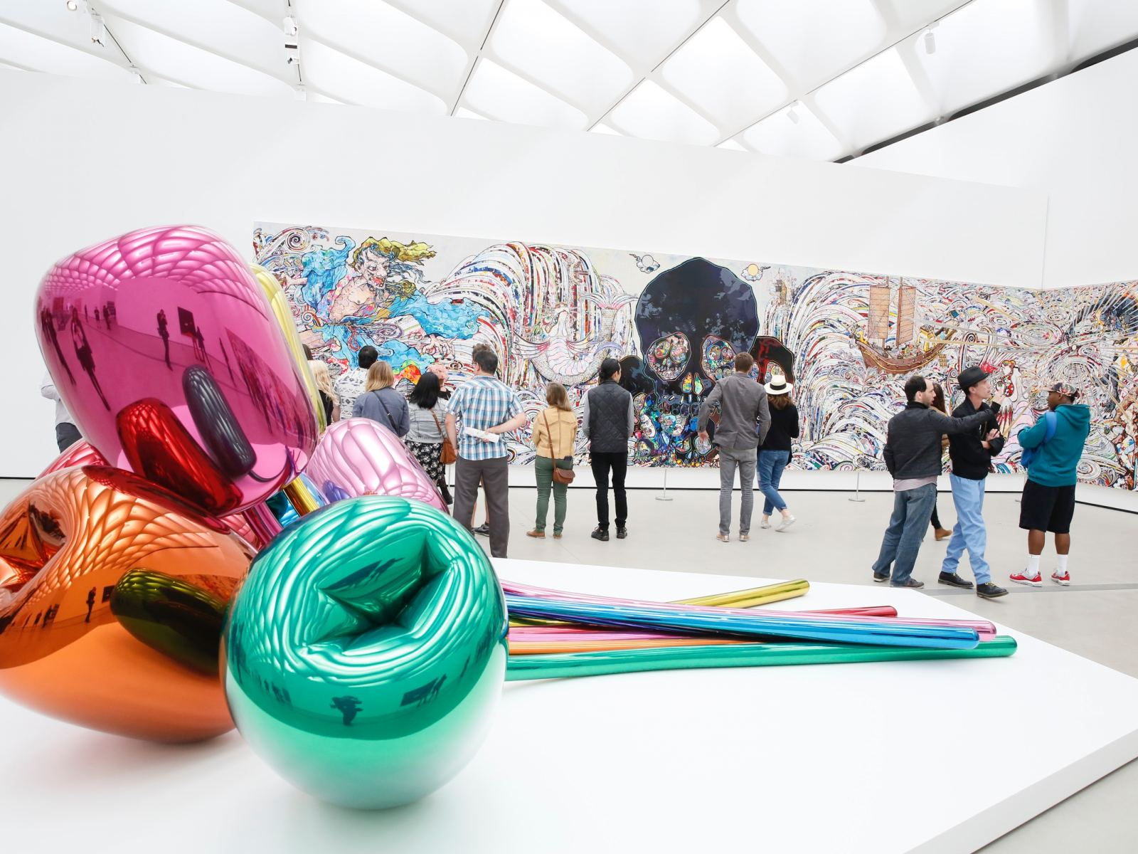 Third-floor galleries at The Broad