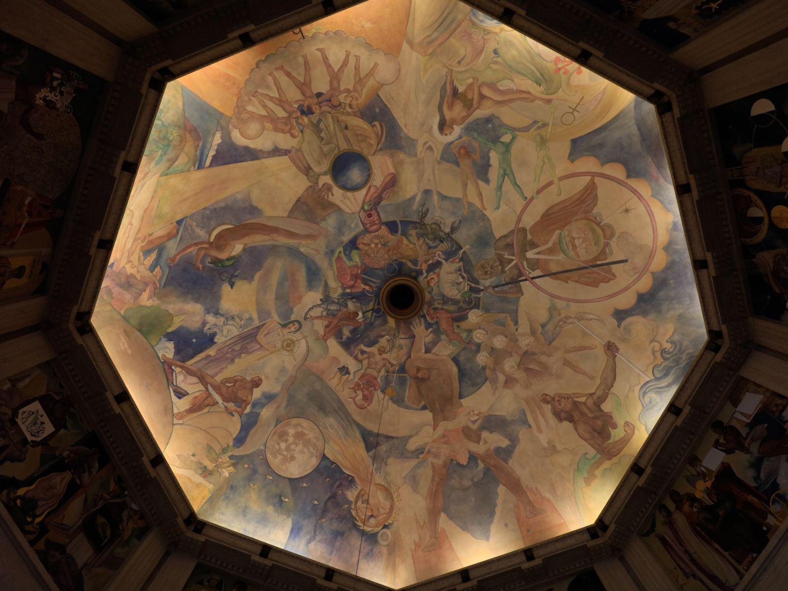 Griffith Observatory Hugo Ballin Ceiling Mural