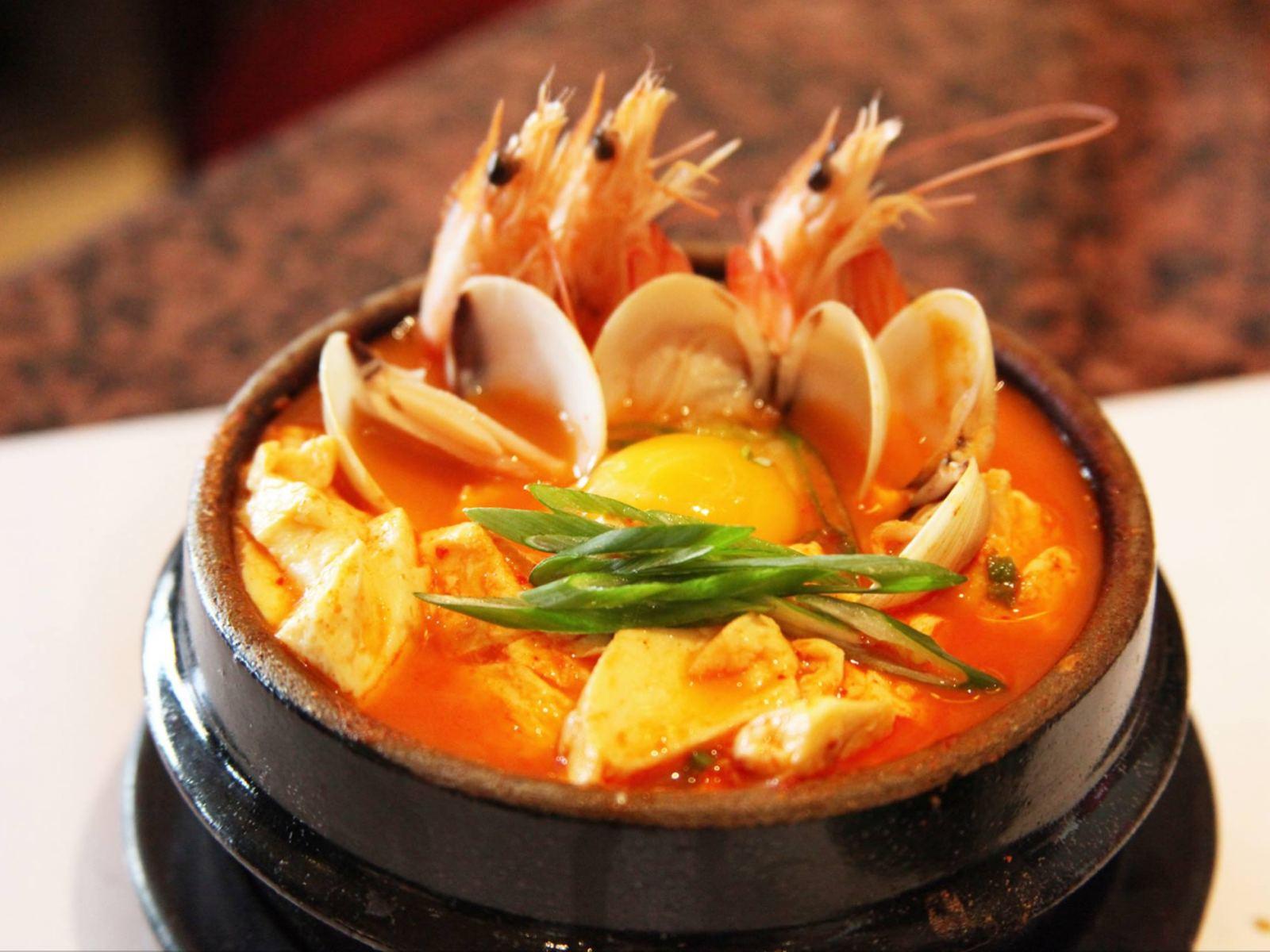 Seafood Hot Tofu Stew at BCD Tofu House