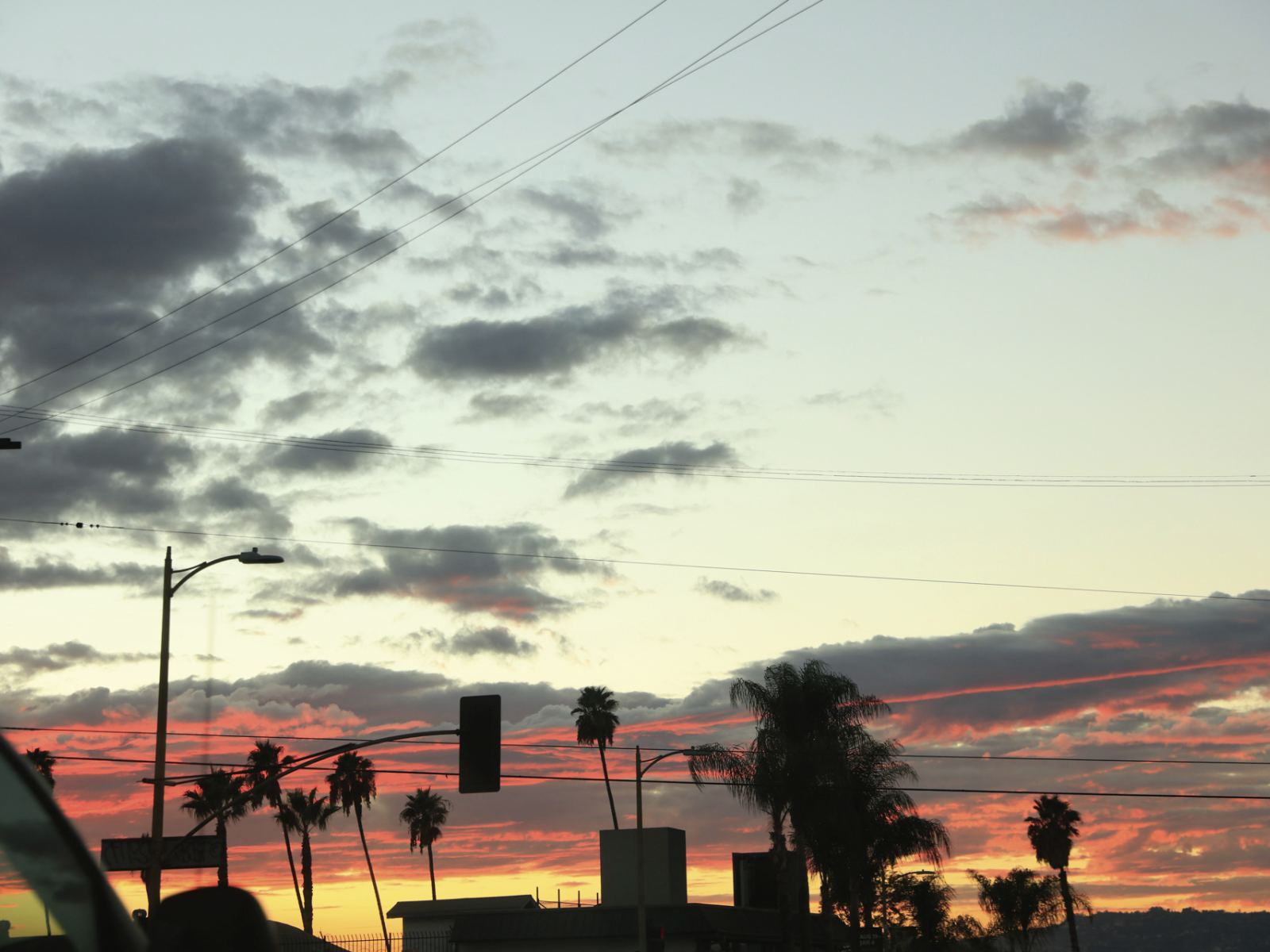 Driving During an L.A. Sunset