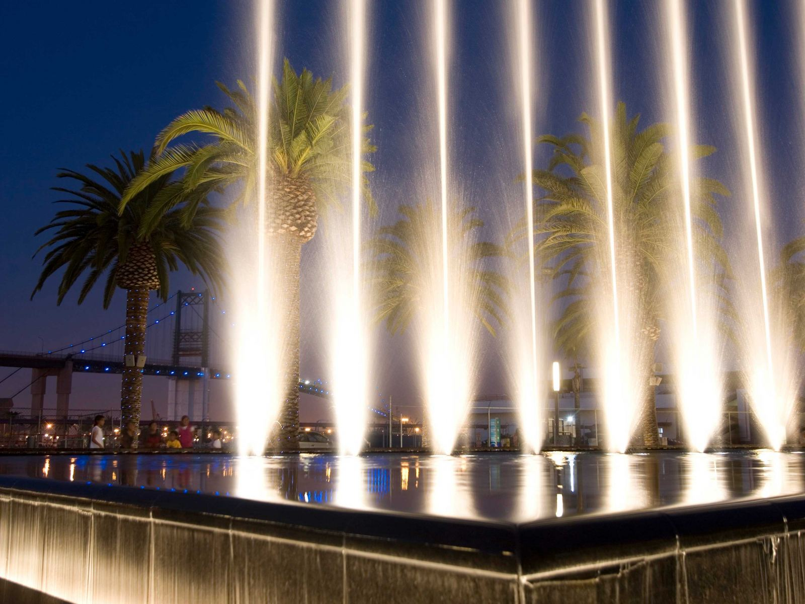 San Pedro Gateway Fanfare Fountains