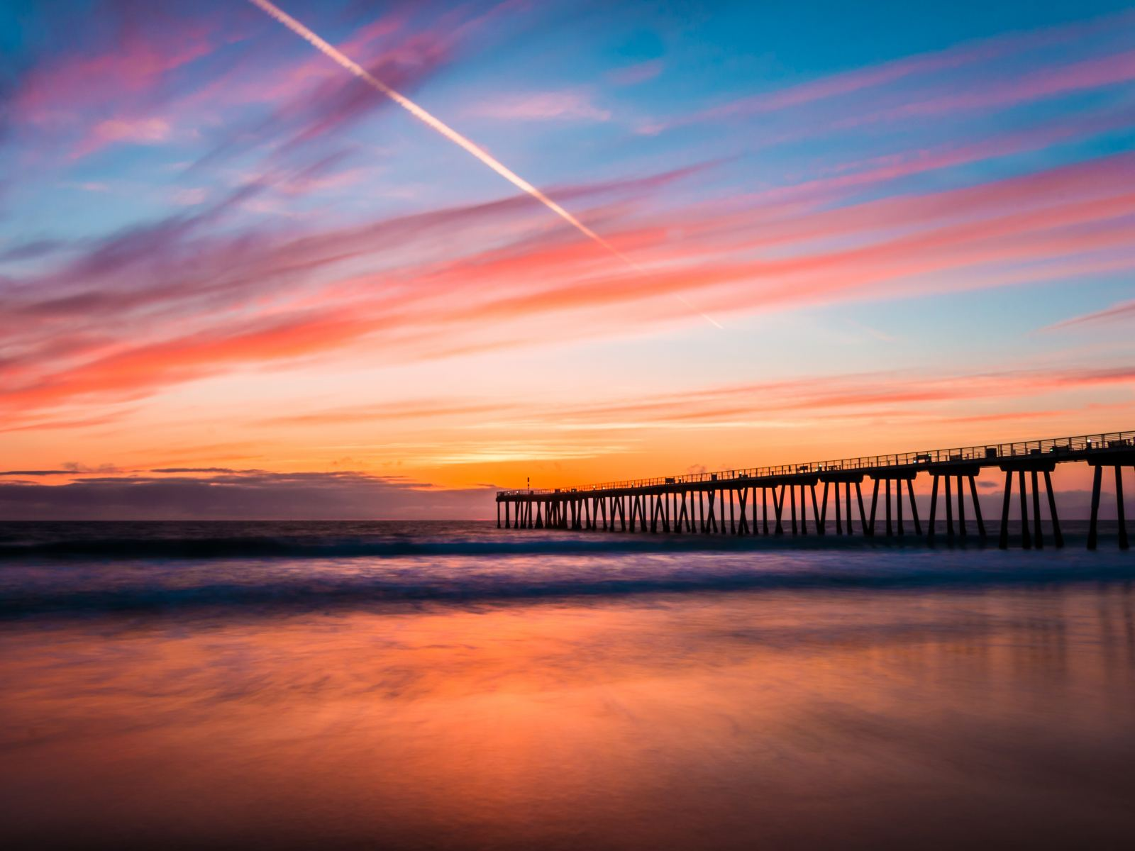sunset angeles los beach pier photographs places hermosa locations chill sunsets sunrise sun beaches california cute