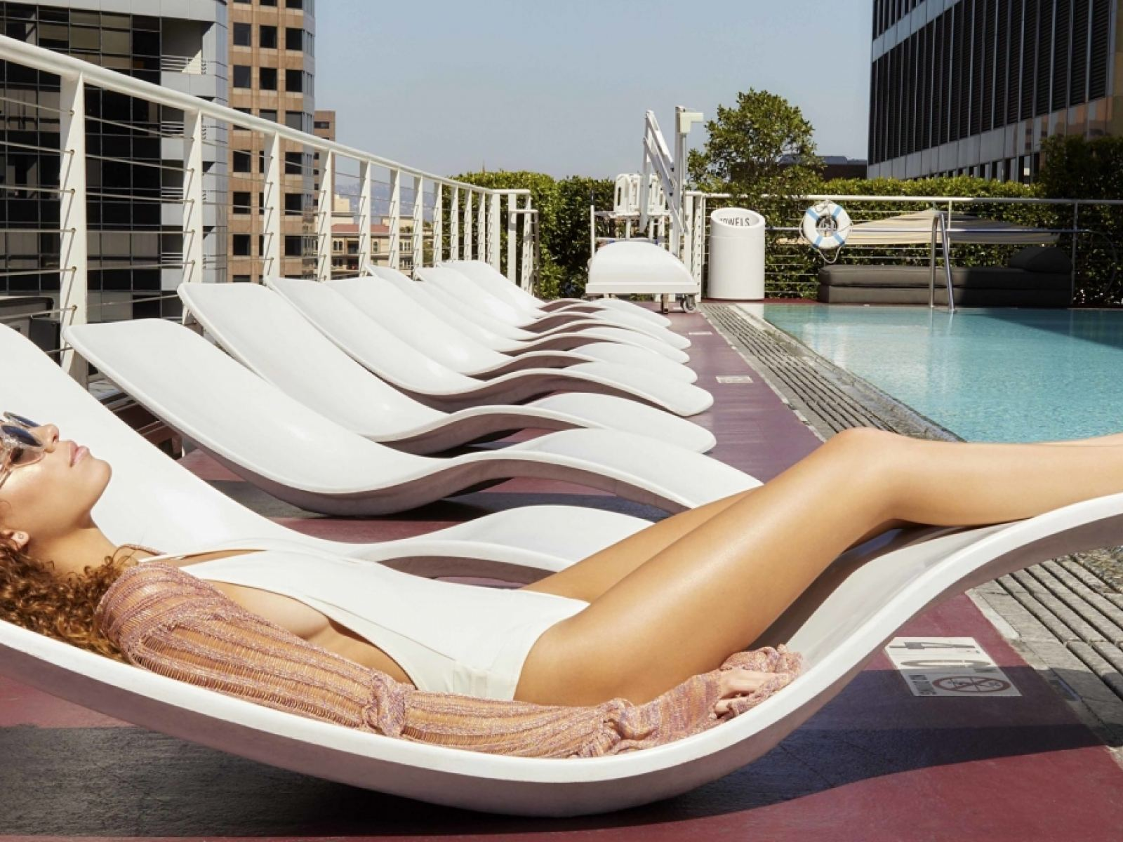 The Standard Downtown LA Rooftop Pool