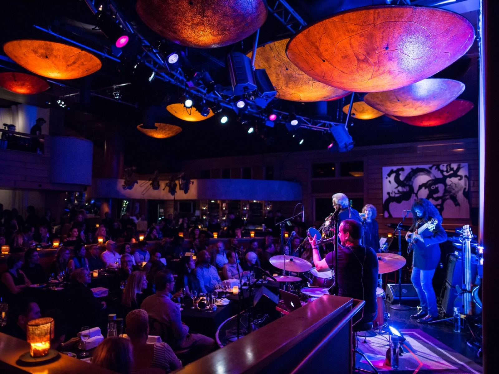 Herb Alpert on stage with Lani Hall at Vibrato Grill in Bel-Air