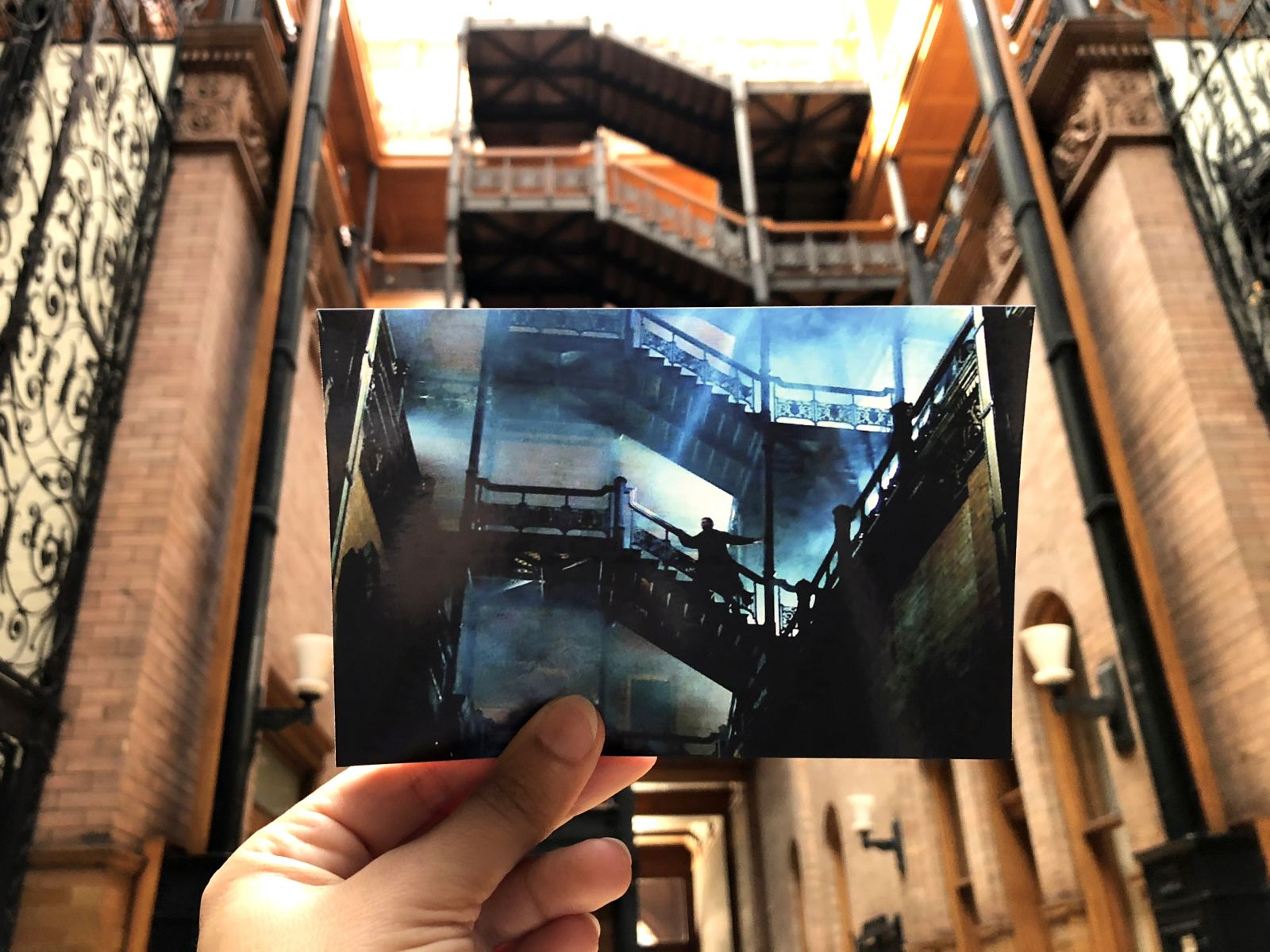 "Scene from ""Blade Runner"" at the Bradbury Building"