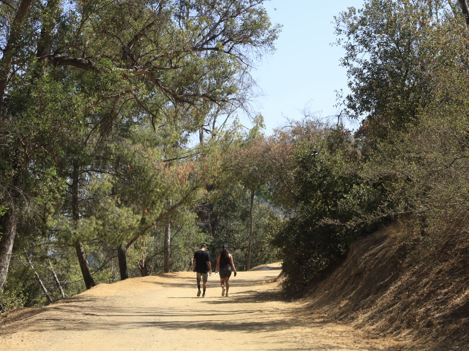 Couple hiking in Griffith Park