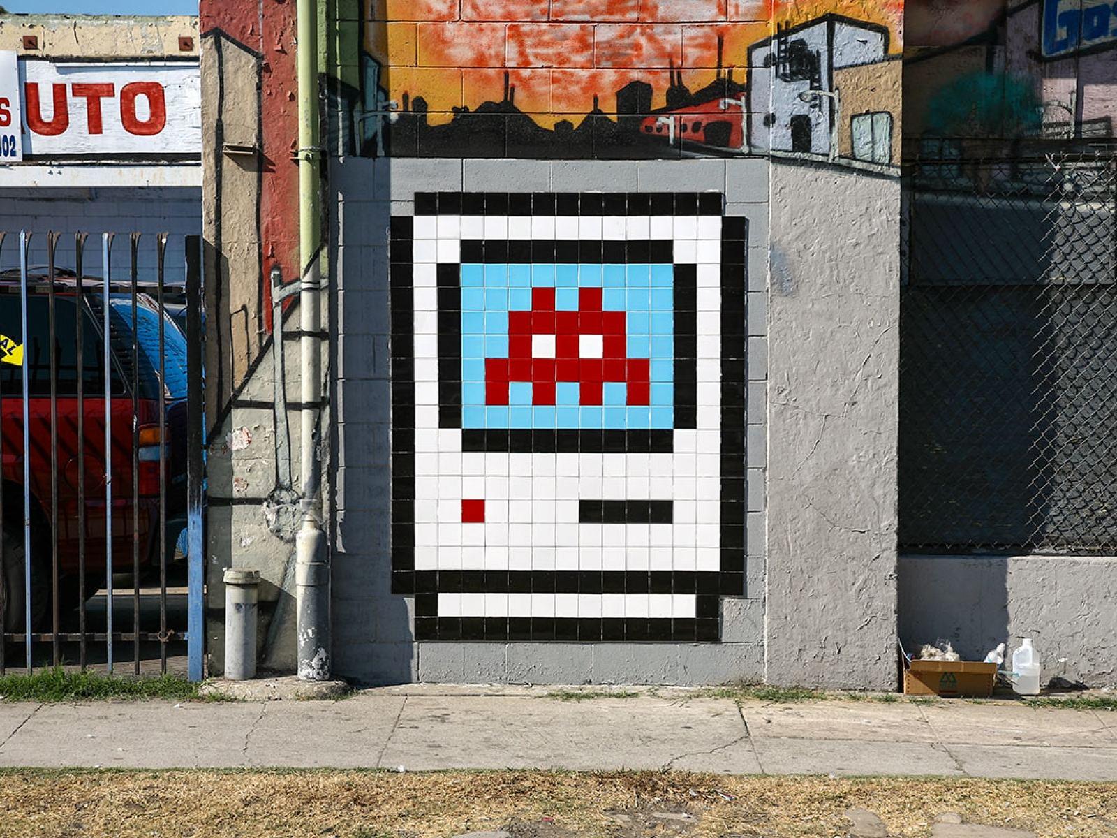 Arte de Invader en las calles