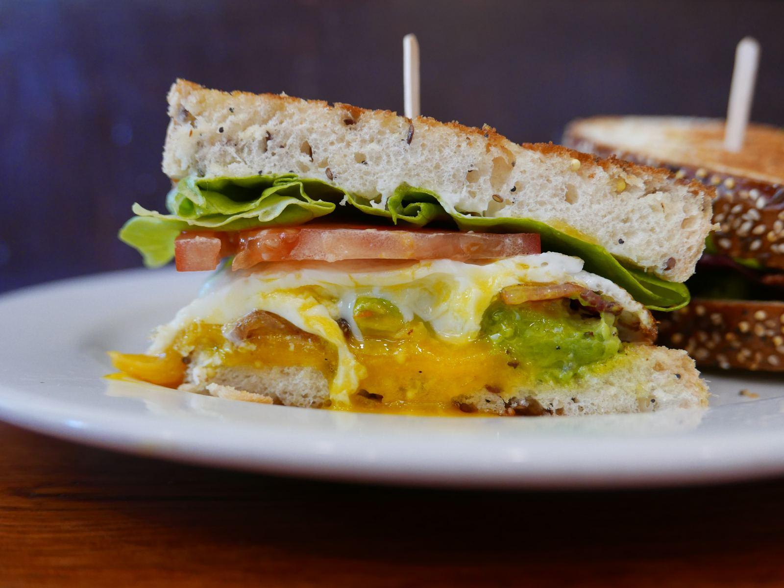 Breakfast sandwich melt at Café Vida