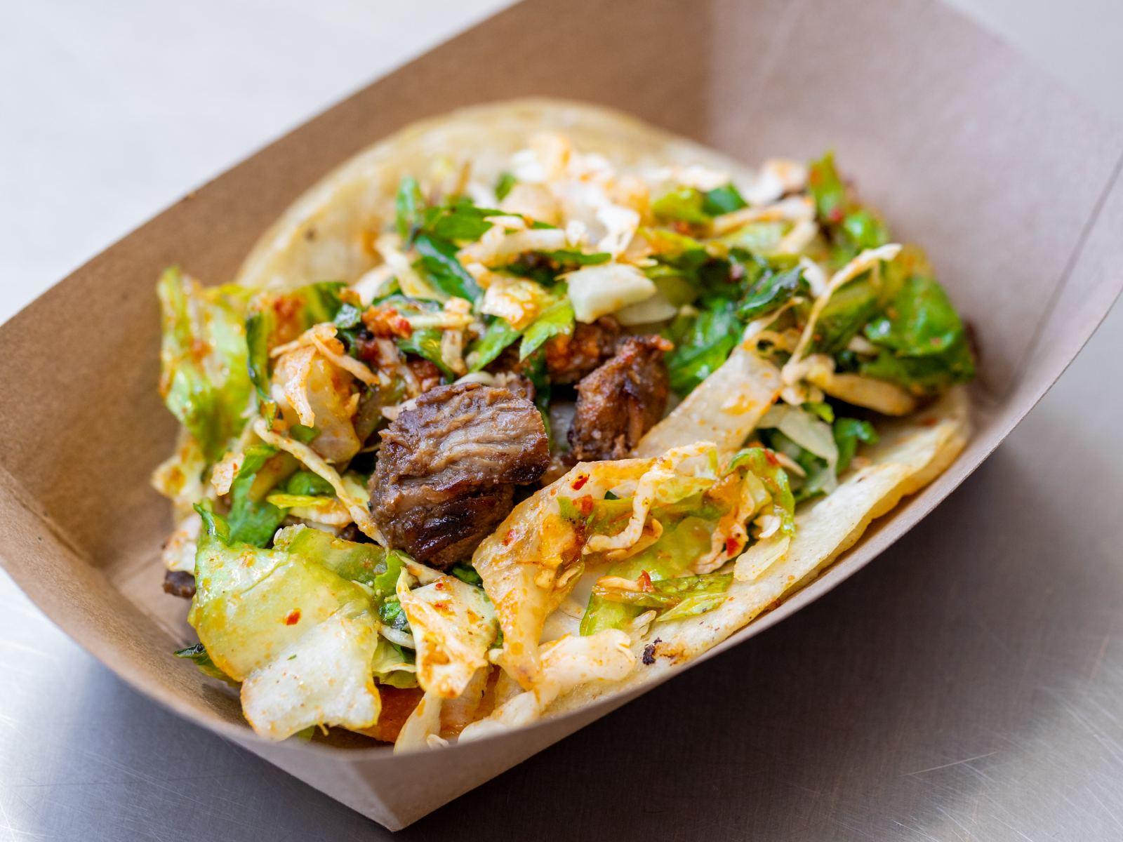 Short rib taco at Kogi Taqueria